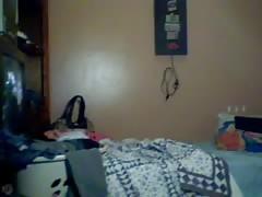 Young Cute 18 yo Girl get's dirty on Webcam
