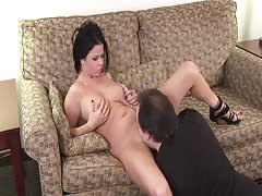 Spicy dick-loving milf brunette shows off her skills!