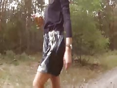 Nude walk and outdoor sex with a picked up Russian gf