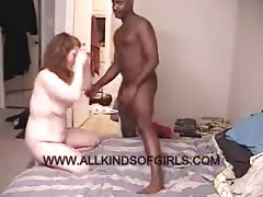 Black guy fucks with a slutty kinky BBW in the bedroom