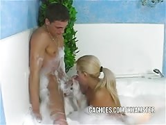 Hot Teen Couple Shows Great Gagging Skills In Spa