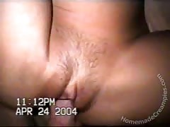 Very massive cock is filling out this wide's tight cunt and creampies it later