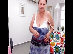 arab granny strip and dance