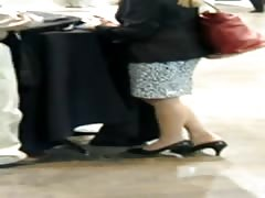 Candid Feet Shoeplay Dipping Nylons Trade Show Compilation