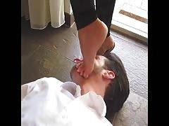 Lady Barbara feet on face
