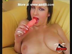 Big Boobs Milf & Two Dildo