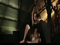 Beautiful Ashley bound and fucked in the loft