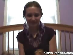 Nubile 18yo Kitty playing with her dolls