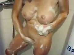 Soaping Up In The Shower