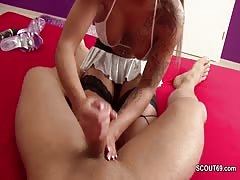 Lap Dance Call Girl give me a Privat Handjob for Extra Money