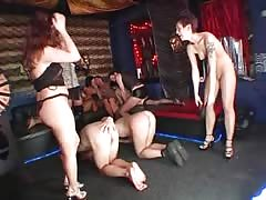 Dick-addicted tramps are showing off their perverted desires