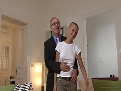 Almost bald big-butt slut have fun in the Young vs Old style