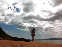 Maui beach nude woman 1