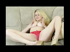 Hot Busty Blonde Stripping BVR