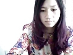 Chinese girl stripping down on webcam