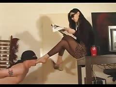 Leyla and her footstool