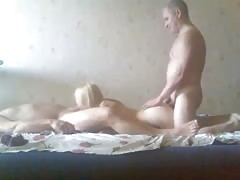 Two fat guys are fucking with an awesome skillful blonde