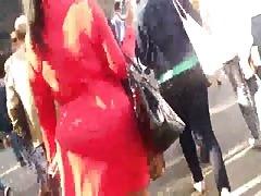 Big black ass ebony in a dress