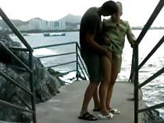 Wife fuck outdoor
