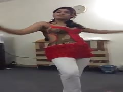 Indian girl hot dance with her office manager