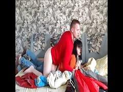 Russian amateurs. Hidden cam
