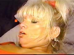 Blonde mature is being pounded in her little pussy in the bedroom