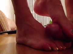 Her Feet Made Him Cum So Quick - But Who Can Blame The Guy