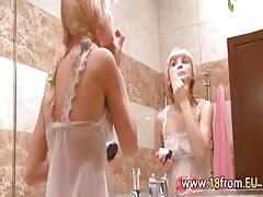 blonde fucking in the bathroom