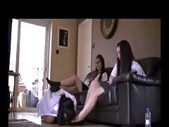 2 student use student lesbian feet slave part 1