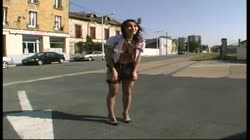 Alexia shown her pussy in the street