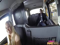 Big black guy is getting sucked by an astonishing blonde milf