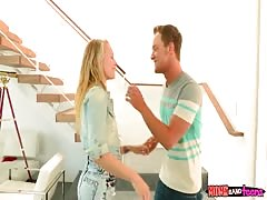 Daughter's boyfriend banging with mommy and his gf