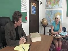 Blonde Schoolgirl Trades Sex For Grades